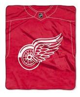 Detroit Red Wings Northwest Royal Plush Raschel Blanket