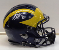 Charles Woodson Autographed Riddell Authentic Full Size University of Michigan Helmet