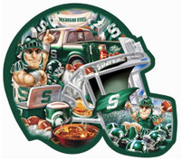 Michigan State University Masterpieces Inc. 500-Piece Helmet Shaped Puzzle