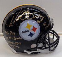 Jerome Bettis Autographed Riddell Authentic Full Size Pittsburgh Steelers Helmet with 7 Inscriptions