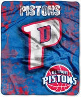 Detroit Pistons Northwest Royal Plush Raschel Blanket