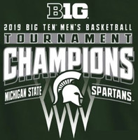 Michigan State University Men's Blue 84 Big Ten Tournament Championship T-Shirt