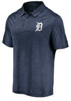 Detroit Tigers Men's Majestic Navy Positive Production Polo