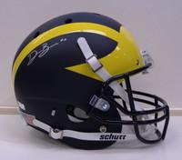 Devin Bush, Jr. Autographed Michigan Full Size Schutt Matte Replica Helmet