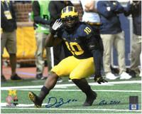 """Devin Bush, Jr. Autographed Michigan Wolverines 8x10 Photo #1 with """"Go Blue"""" Inscription"""