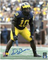 Devin Bush, Jr. Autographed Michigan Wolverines 8x10 Photo #2