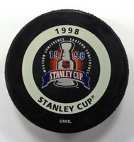 Nicklas Lidstrom Autographed 1998 Stanley Cup Playoffs Game Puck (pre-order)