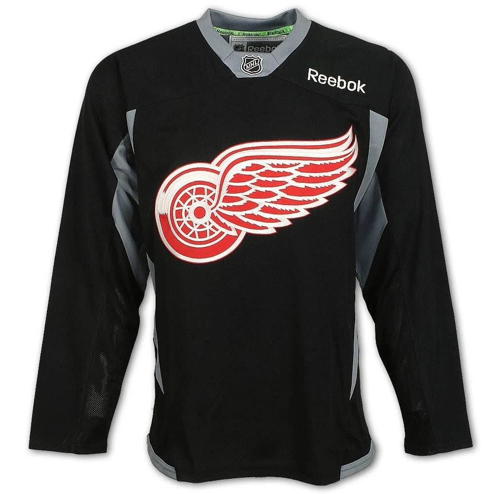 great fit 21452 12468 Detroit Red Wings Men's Reebok Black Practice Jersey