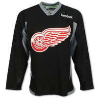 Detroit Red Wings Men's Reebok Black Practice Jersey
