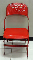 Darren McCarty Autographed Joe Louis Arena Original Metal Folding Chair