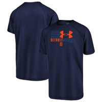 Detroit Tigers Youth Under Armour In Team Colors Synthetic T-Shirt – Navy