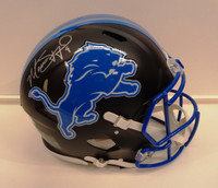 Matthew Stafford Autographed Detroit Lions Speed Authentic Flat Black Helmet