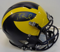 Tom Brady Autographed Authentic University of Michigan Matte Speed Helmet
