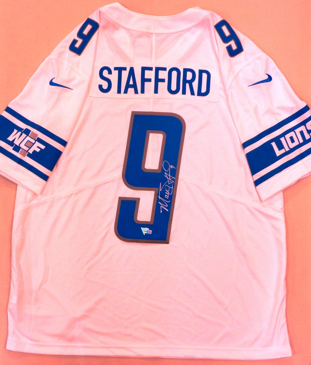 Matthew Stafford Autographed Detroit Lions Jersey - White Nike Limited