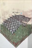 Kit Harington Autographed Game of Thrones 28×42 Banner – Battle Worn – Battle of the Bastards