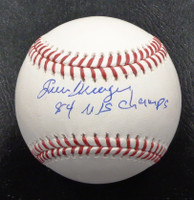 "Juan Berenguer Autographed Baseball - Official Major League Ball Inscribed ""84 WS Champs"""