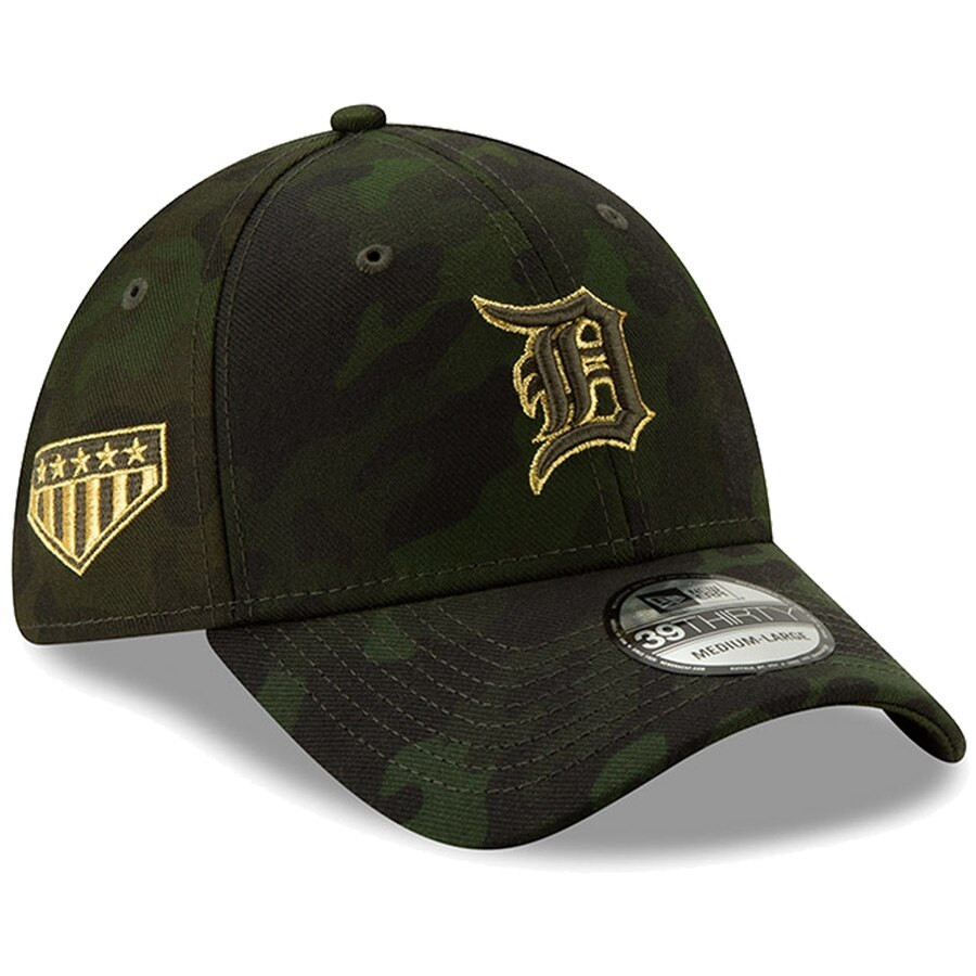 sale retailer fa2f0 6fbac ... Detroit Tigers New Era 2019 MLB Armed Forces Day Salute to Service 39THIRTY  Flex Hat - Camo. Loading zoom