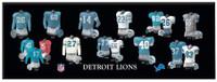 Detroit Lions Winning Streak 8'' x 24'' Uniform Evolution Plaque