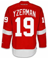 Detroit Red Wings Reebok Premier Home Jersey - Yzerman #19