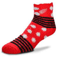 Detroit Red Wings Women's For Bare Feet Plush Ankle Socks