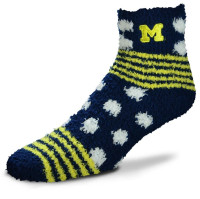 University of Michigan Women's For Bare Feet Plush Ankle Socks