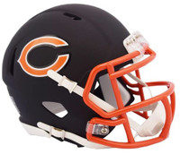 Chicago Bears Riddell Black Matte Alternate Speed Mini Football Helmet
