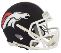 Denver Broncos Riddell Black Matte Alternate Speed Mini Football Helmet
