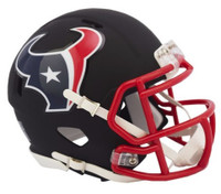 Houston Texans Riddell Black Matte Alternate Speed Mini Football Helmet