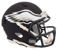 Philadelphia Eagles Riddell Black Matte Alternate Speed Mini Football Helmet