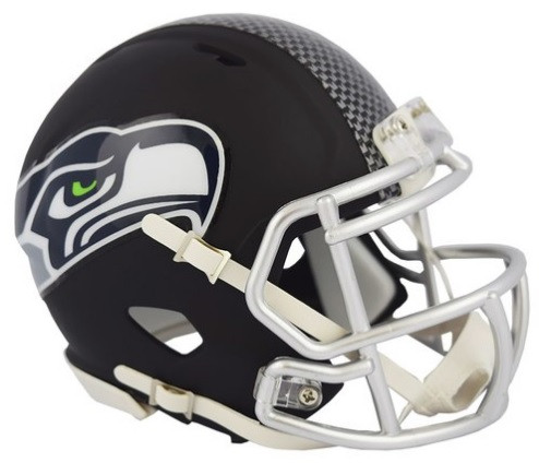 Seattle Seahawks Riddell Black Matte Alternate Speed Mini Football Helmet