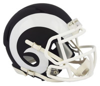 Los Angeles Rams Riddell Black Matte Alternate Speed Mini Football Helmet