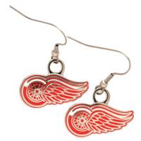 Detroit Red Wings Aminco Dangle Logo Earrings
