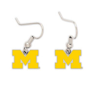 University of Michigan Wincraft Dangle Logo Earrings