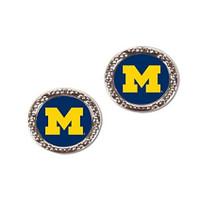 University of Michigan Wincraft Post Circle Earrings