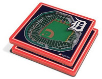 Detroit Tigers You The Fan 3D Stadiumview Coasters - Set of 2