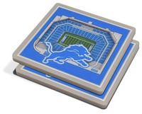 Detroit Lions You The Fan 3D Stadiumview Coasters - Set of 2