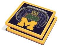 University of Michigan You The Fan 3D Stadiumview Coasters - Set of 2