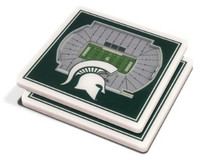 Michigan State University You The Fan 3D Stadiumview Coasters - Set of 2