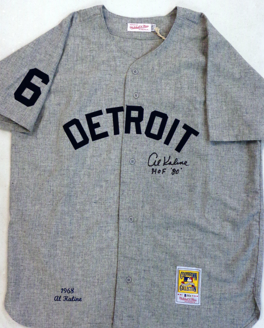 b2260a1f6 Home · Autographed Jerseys; Al Kaline Autographed Detroit Tigers 1968 Road  Mitchell & Ness Jersey with