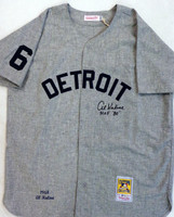 "Al Kaline Autographed Detroit Tigers 1968 Road Mitchell & Ness Jersey with ""HOF 80"" Inscription"