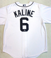 "Al Kaline Autographed Detroit Tigers Home Jersey with ""Mr. Tiger"" Inscription"