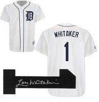 Lou Whitaker Autographed Home Detroit Tigers Jersey (Pre-Order)