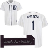 "Lou Whitaker Autographed Home Detroit Tigers Jersey with ""Sweet Lou"" Inscription (Pre-Order)"