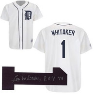 "Lou Whitaker Autographed Home Detroit Tigers Jersey with ""78 ROY"" Inscription (Pre-Order)"