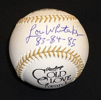 "Lou Whitaker Autographed Baseball - Official Gold Glove Ball with ""83-84-85"" Inscription (Pre-Order)"