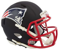 Chase Winovich Autographed New England Patriots Riddell Black Matte Alternate Speed Mini Football Helmet (Pre-Order)