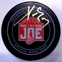 Pavel Datsyuk Autographed Farewell to the Joe Official Game Puck