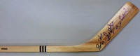 Production Line Autographed Northland Hockey Stick - Gordie Howe, Sid Abel, Ted Lindsay