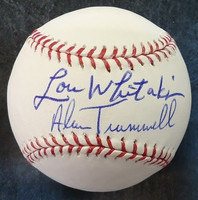 Lou Whitaker & Alan Trammell Autographed Baseball - Official Major League Ball (Pre-Order)