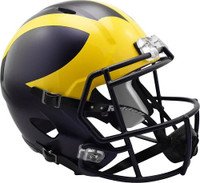 Chase Winovich Autographed University of Michigan Full Size Replica Matte Speed Helmet (Pre-Order)